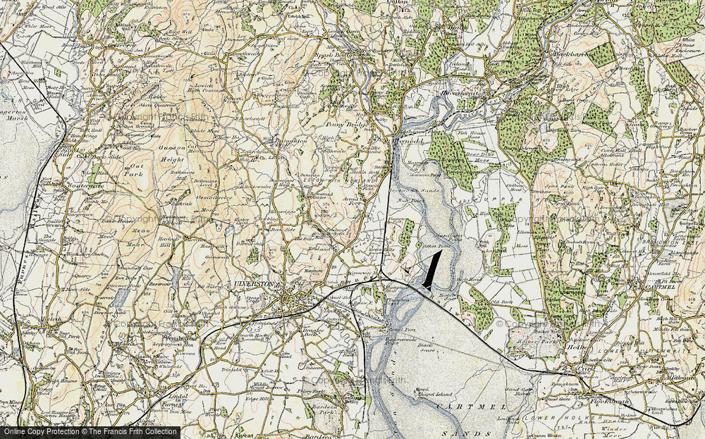 Old Map of Arrad Foot, 1903-1904 in 1903-1904