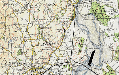 Old map of Arrad Foot in 1903-1904