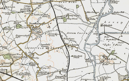 Old map of Arram in 1903-1908