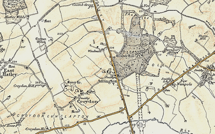 Old map of Arrington in 1899-1901