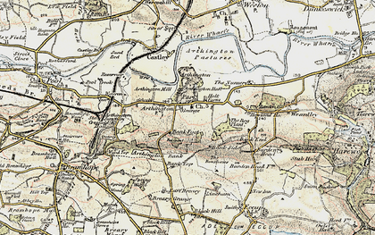Old map of Arthington in 1903-1904