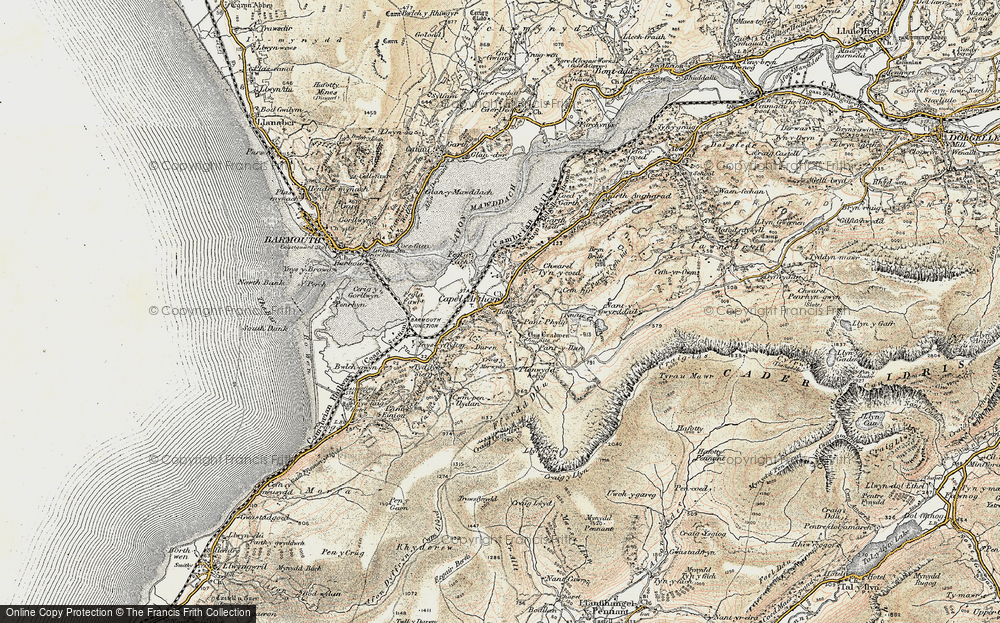 Old Map of Arthog, 1902-1903 in 1902-1903