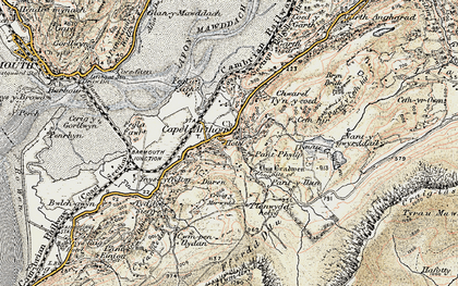 Old map of Arthog in 1902-1903