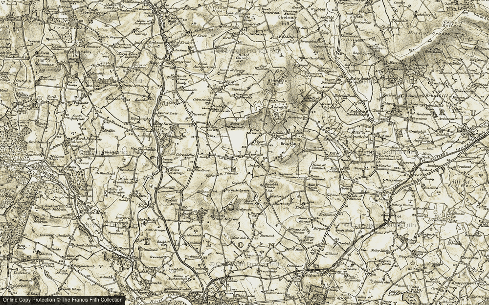 Old Map of Historic Map covering Toddlehills in 1909-1910