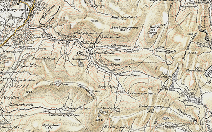 Old map of Badger Lodge in 1902-1903