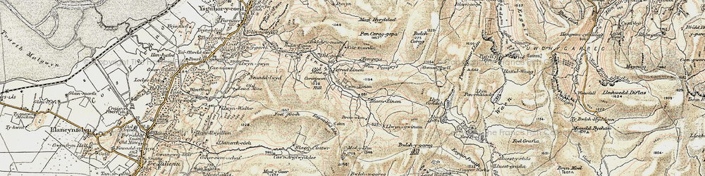 Old map of Anglers' Retreat in 1902-1903