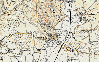 Old map of Arundel Park in 1897-1899