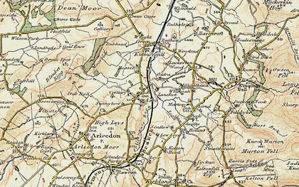 Old map of Asby in 1901-1904