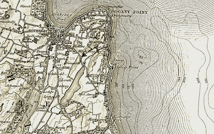 Old map of Ascog Point in 1906