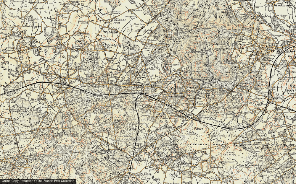 Old Map of Ascot, 1897-1909 in 1897-1909
