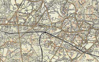Old map of Ascot in 1897-1909