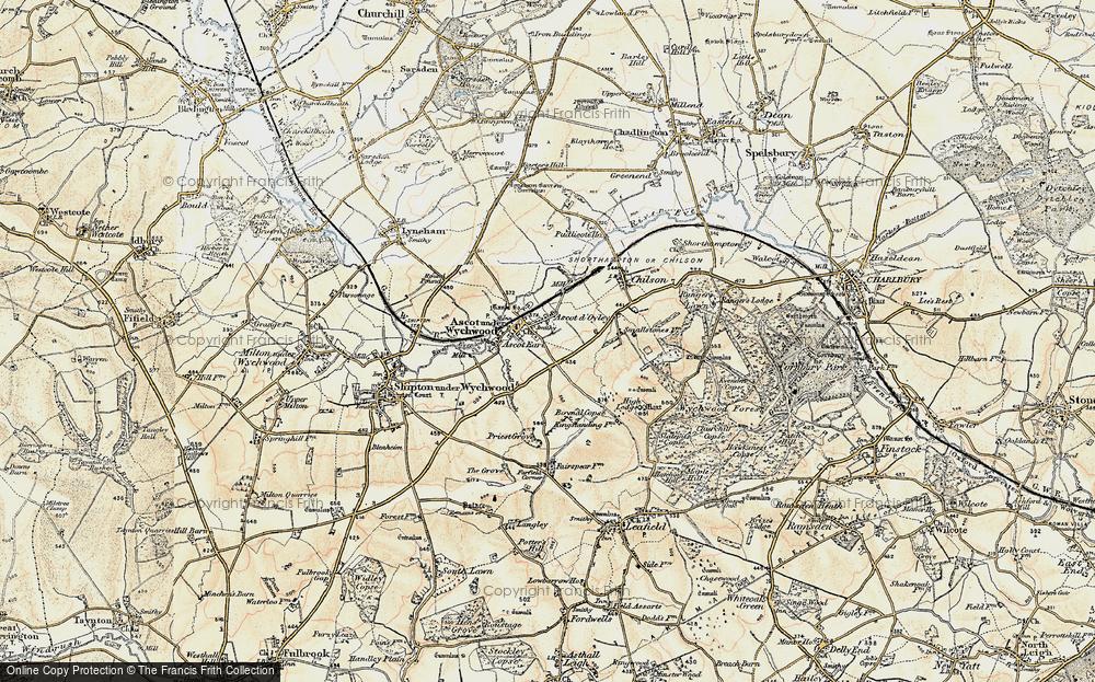 Old Map of Ascott d' Oyley, 1898-1899 in 1898-1899
