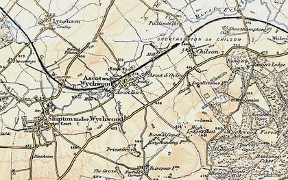 Old map of Ascott d' Oyley in 1898-1899