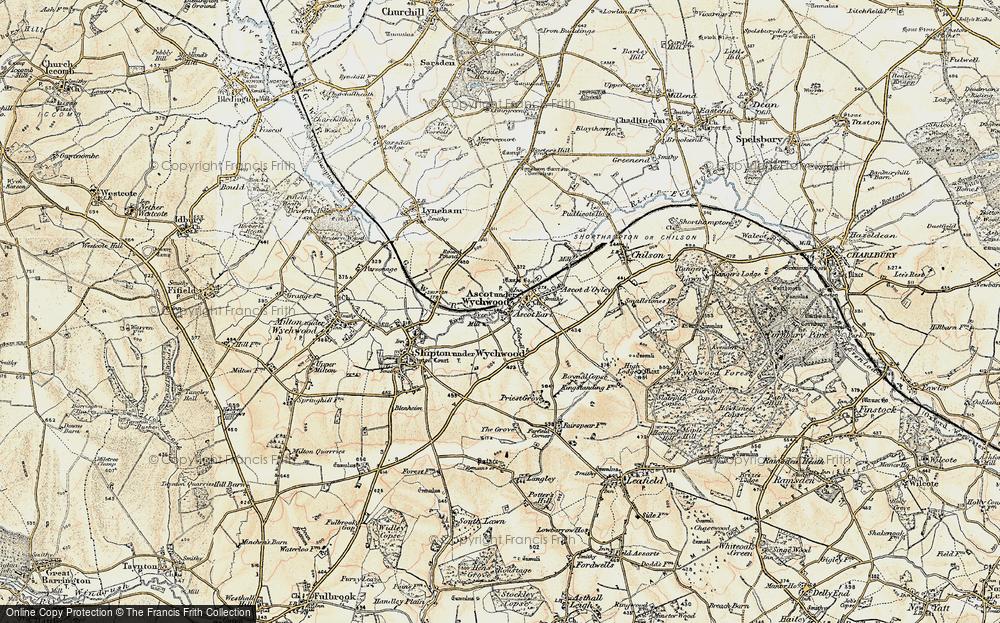 Old Map of Ascott Earl, 1898-1899 in 1898-1899