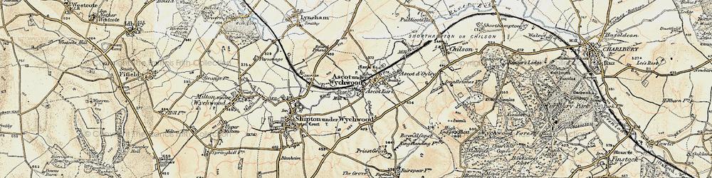Old map of Ascott Earl in 1898-1899