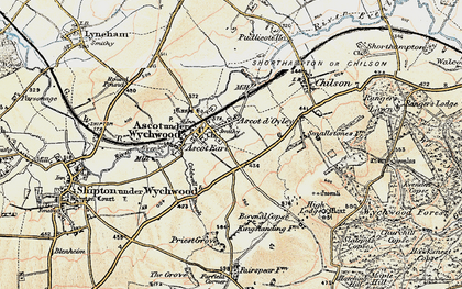 Old map of Ascott-under-Wychwood in 1898-1899