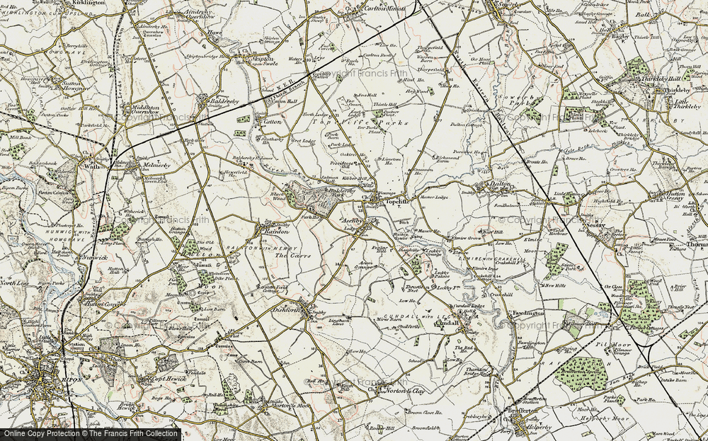 Old Map of Asenby, 1903-1904 in 1903-1904