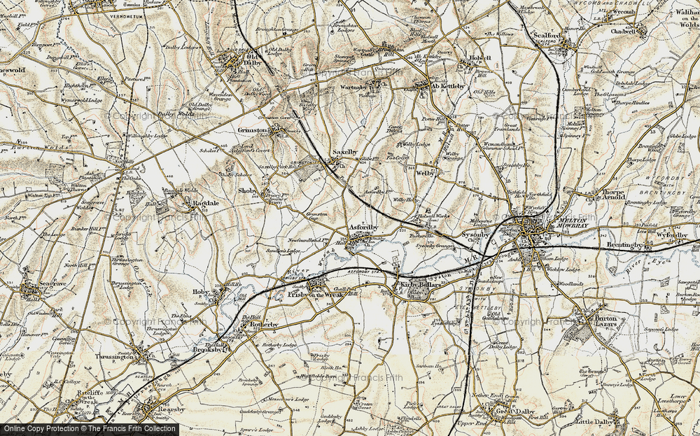 Old Map of Asfordby, 1902-1903 in 1902-1903