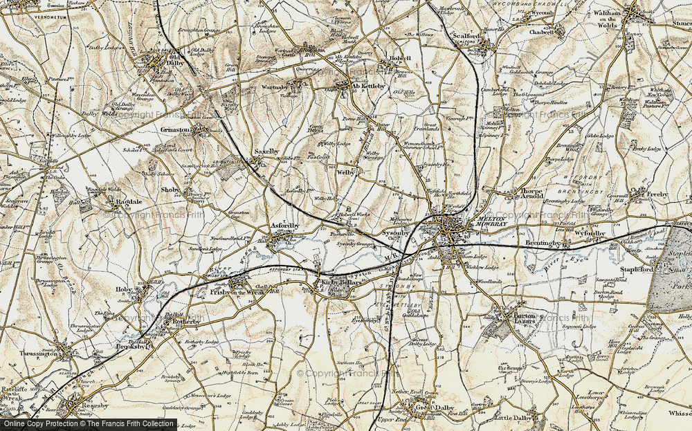 Old Map of Asfordby Hill, 1901-1903 in 1901-1903