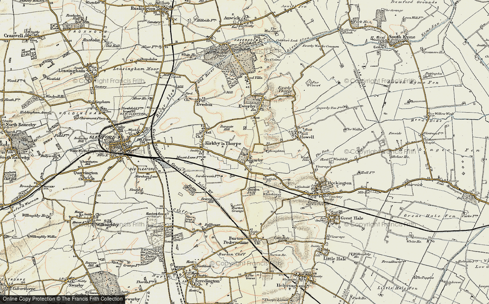 Old Map of Historic Map covering Bargate Hill in 1902-1903