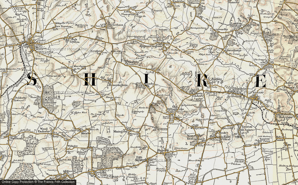Old Map of Asgarby, 1902-1903 in 1902-1903
