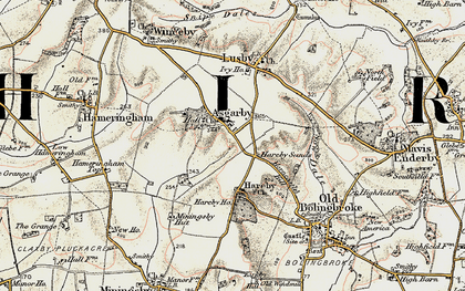 Old map of Asgarby in 1902-1903