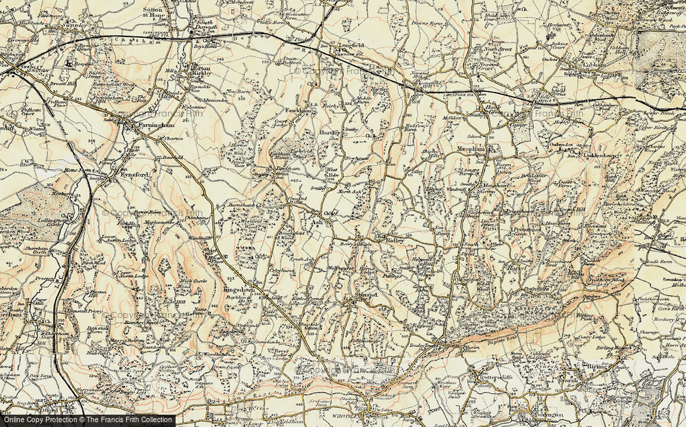 Old Map of Ash, 1897-1898 in 1897-1898