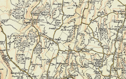 Old map of Ash in 1897-1898