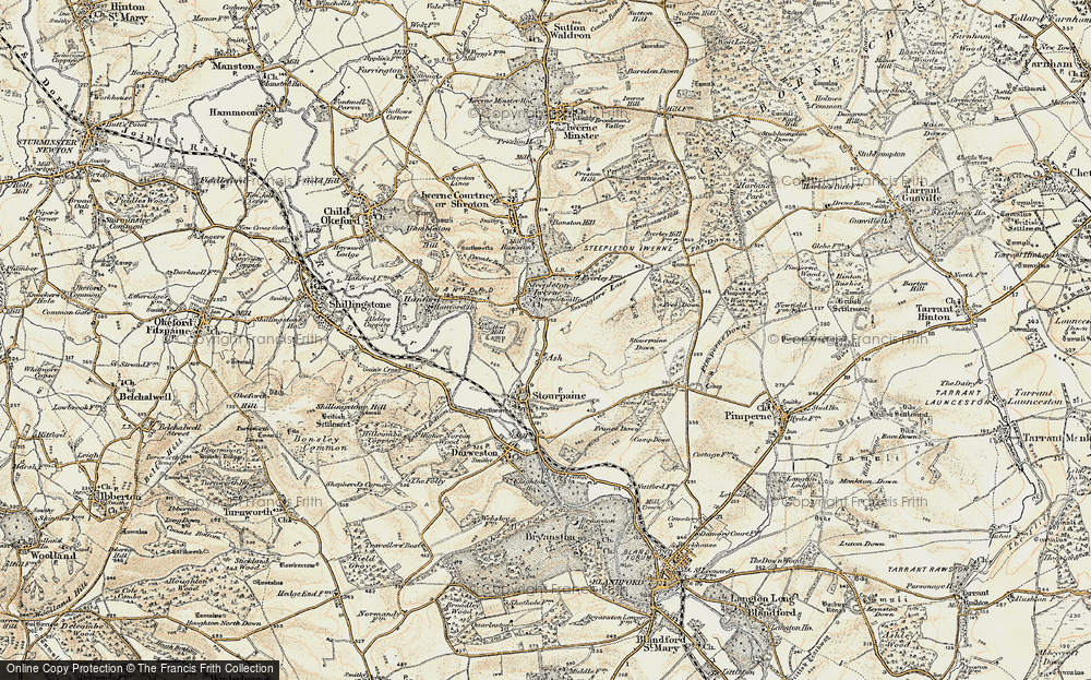 Old Map of Ash, 1897-1909 in 1897-1909