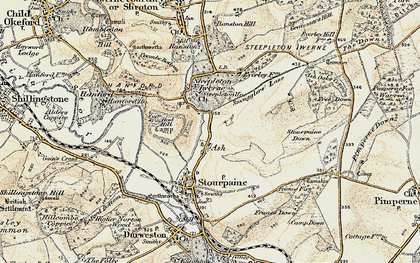 Old map of Ash in 1897-1909