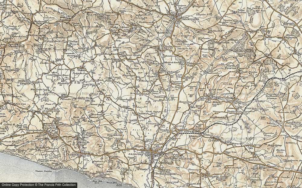 Old Map of Ash, 1898-1899 in 1898-1899