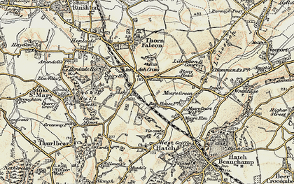 Old map of Ash in 1898-1900