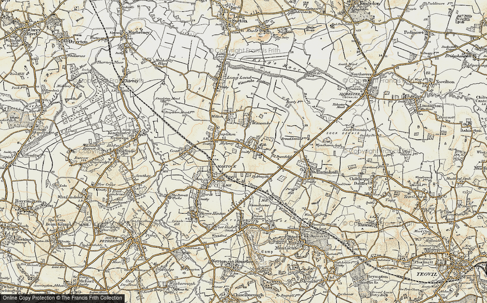 Old Map of Ash, 1898-1900 in 1898-1900