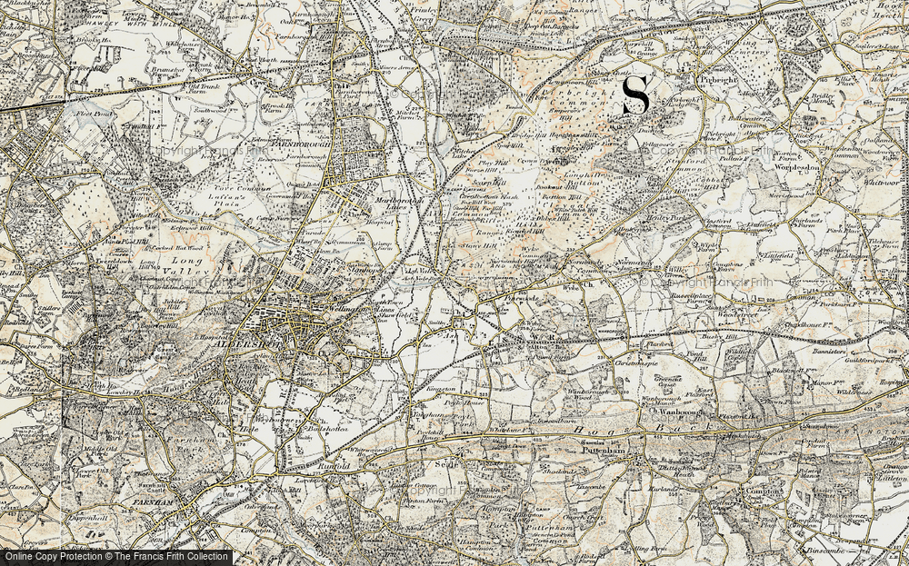 Old Map of Ash, 1898-1909 in 1898-1909