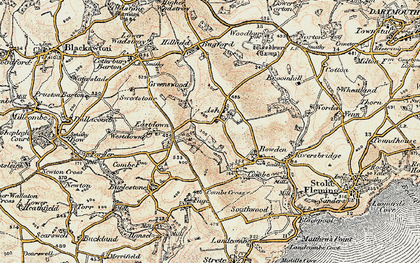 Old map of Ash in 1899