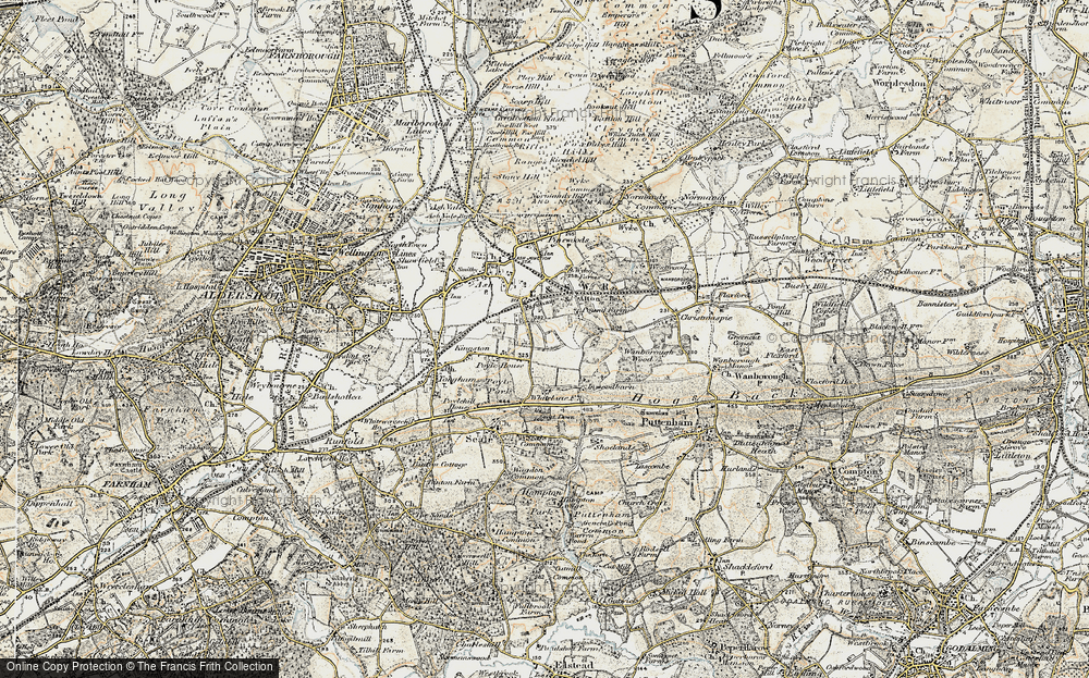 Old Map of Ash Green, 1898-1909 in 1898-1909