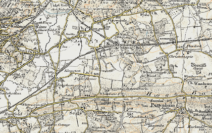 Old map of Ash Green in 1898-1909