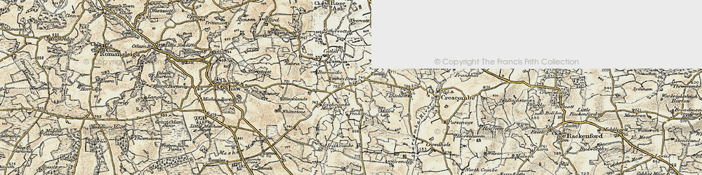 Old map of Ash Moor in 1899-1900