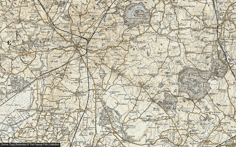 Old Map of Ash Parva, 1902 in 1902