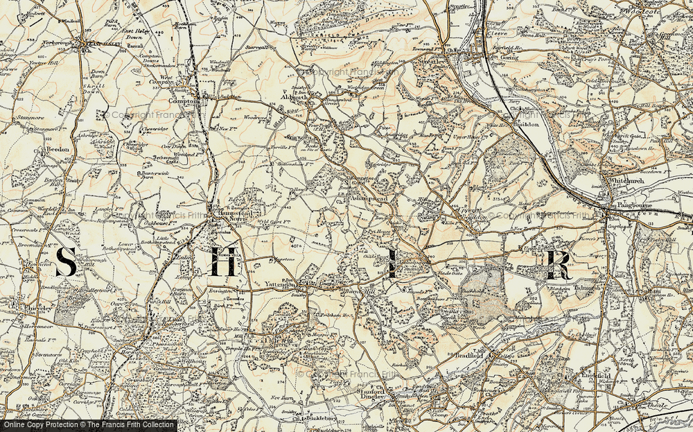 Old Map of Historic Map covering Wyld Court Rainforest in 1897-1900