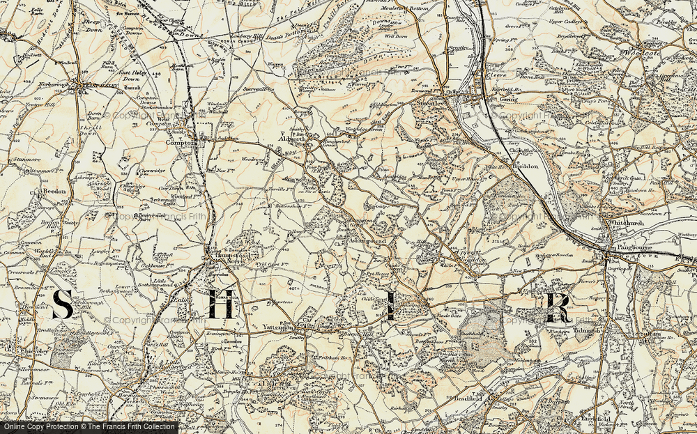 Old Map of Ashampstead Green, 1897-1900 in 1897-1900