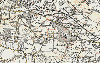 Old map of Ashbank in 1897-1898