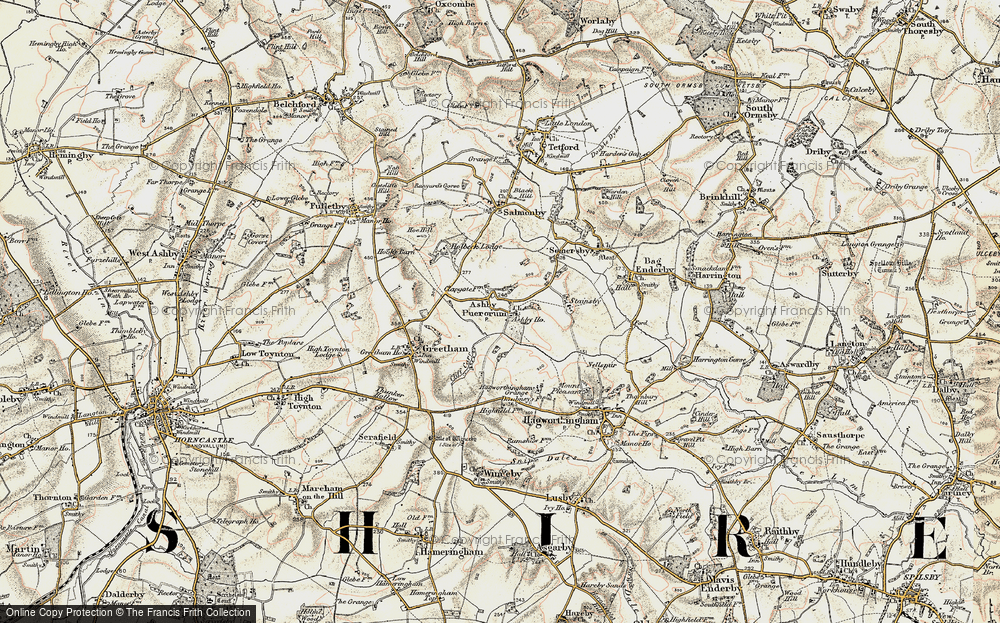 Old Map of Ashby Puerorum, 1902-1903 in 1902-1903