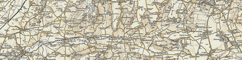 Old map of Ashculme in 1898-1900