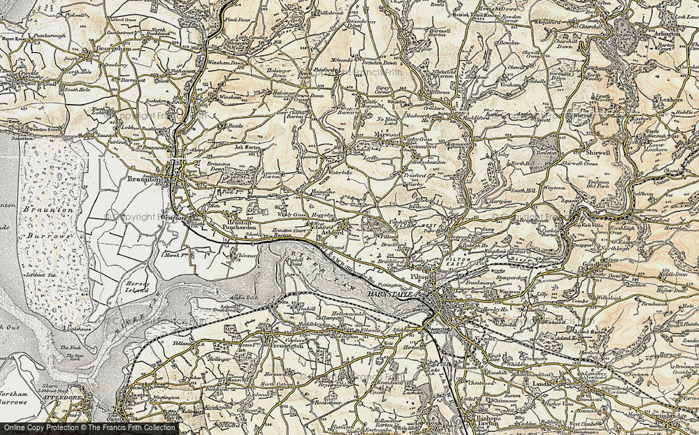 Old Map of Ashford, 1900 in 1900