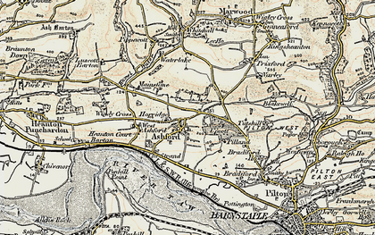 Old map of Ashford in 1900