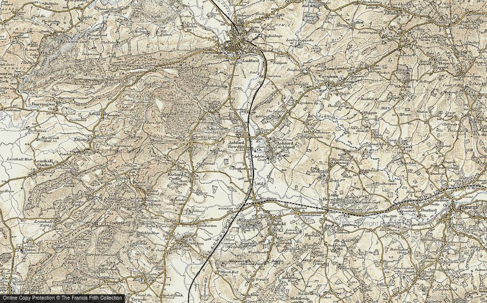 Old Map of Ashford Bowdler, 1901-1902 in 1901-1902
