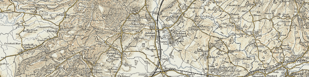 Old map of Wheat Common in 1901-1902