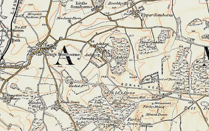 Old map of Ashley in 1897-1900