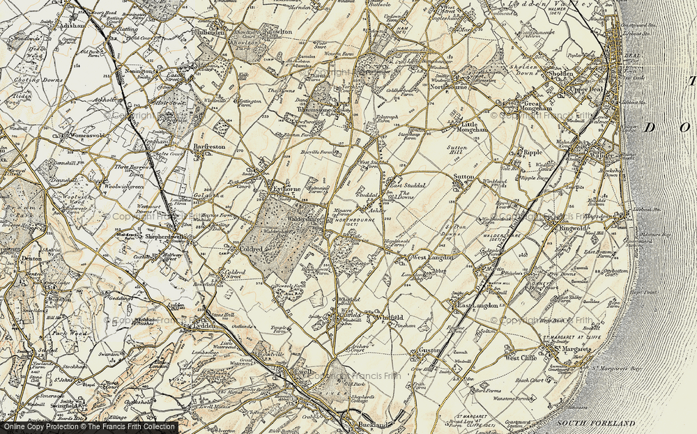 Old Map of Ashley, 1898-1899 in 1898-1899